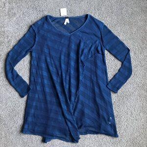 Free people Thermal Top Shirt Tunic Sz Xs NWT